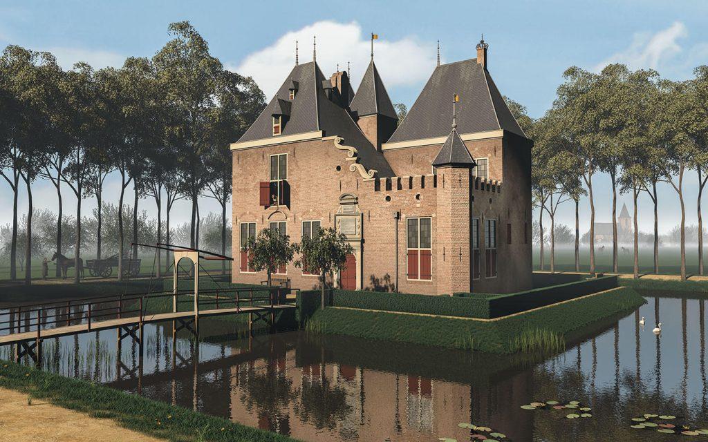 3D visualisatie kasteel develstein